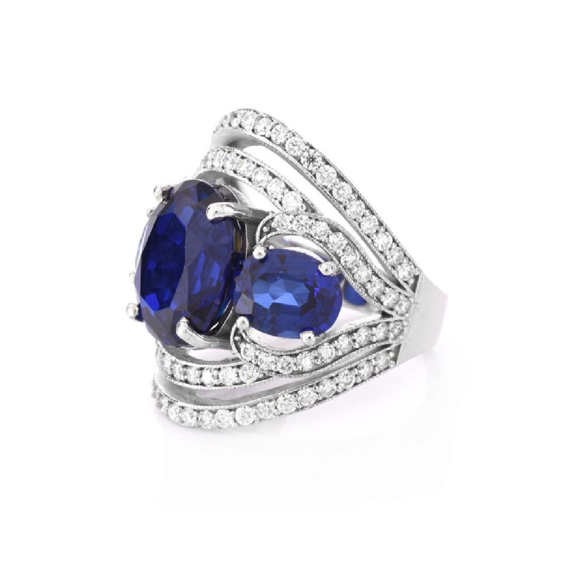Approx. 10.30 Carat Oval Cut Synthetic Sapphire, 1.20 - 3