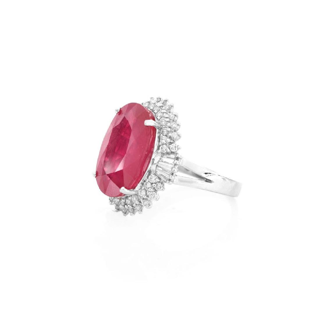 Approx. 11.66 Carat Synthetic Ruby, .75 Carat Round - 3