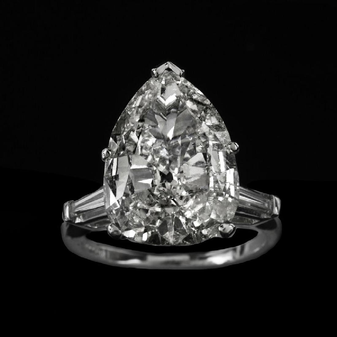 EGL Certified 6.32 Carat Pear Shape Diamond and