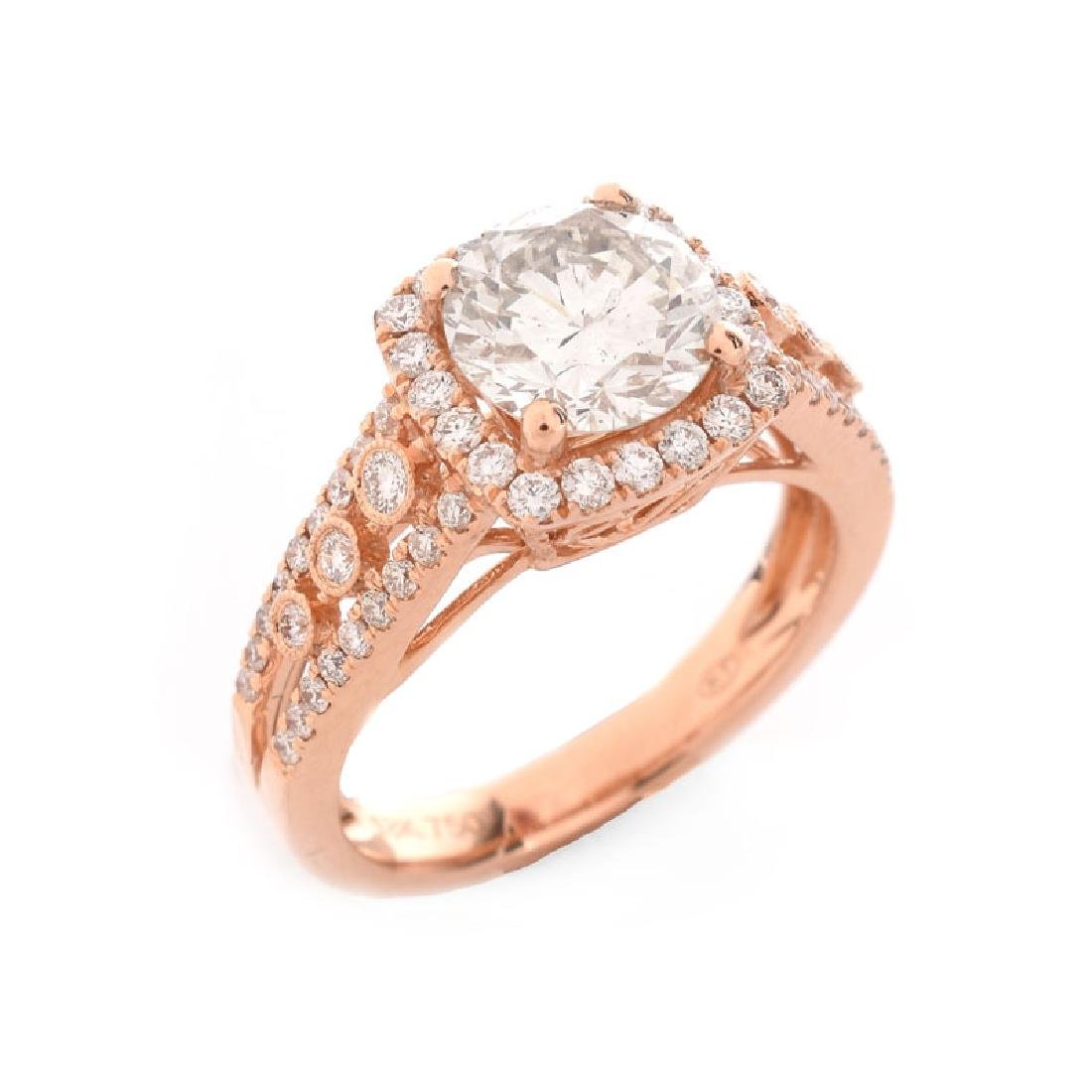 Approx. 2.64 Carat TW Diamond and 18 Karat Rose Gold
