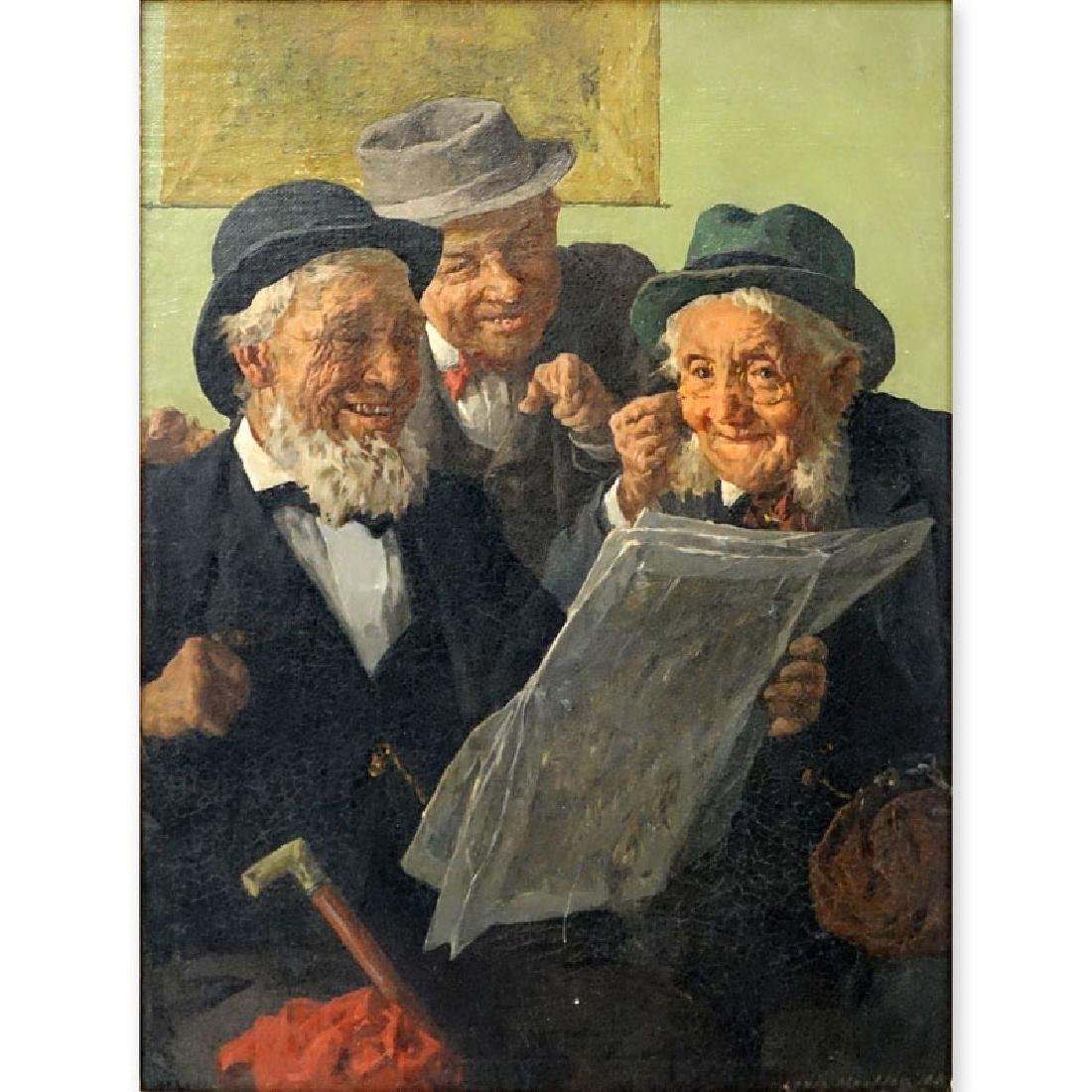 Louis Muller (19/20th C.) Oil on Canvas, Old Men
