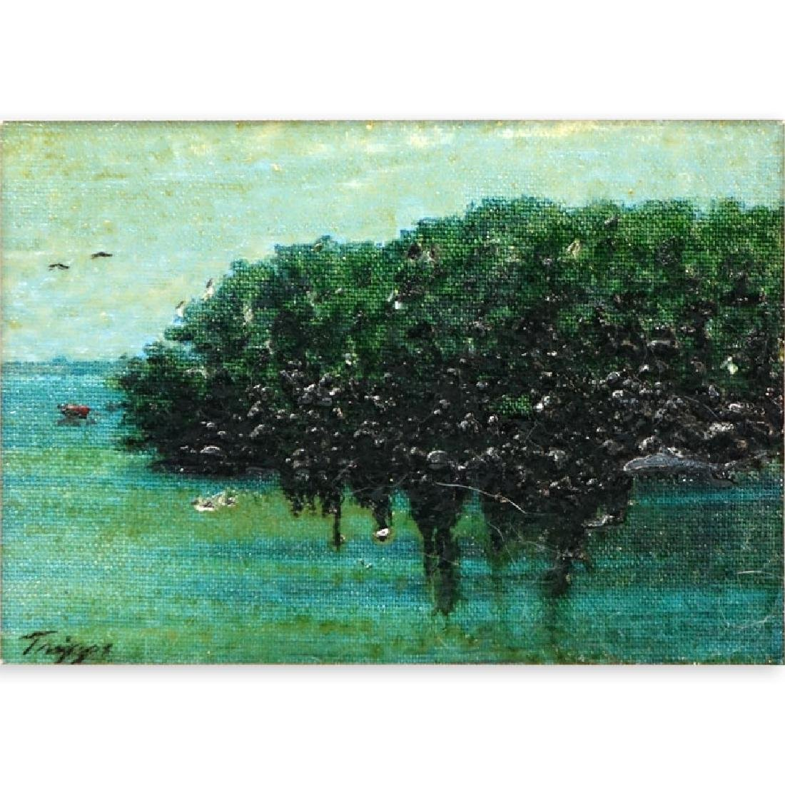 20th Century Oil on Board, Landscape Scene