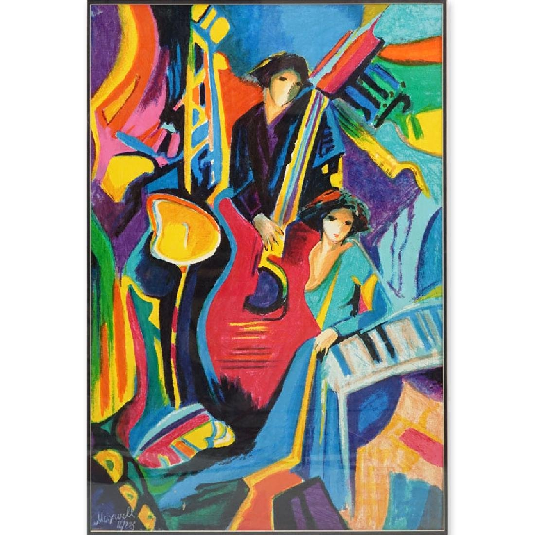 Philip Maxwell, Parisian (b. 1964) Serigraph on Canvas