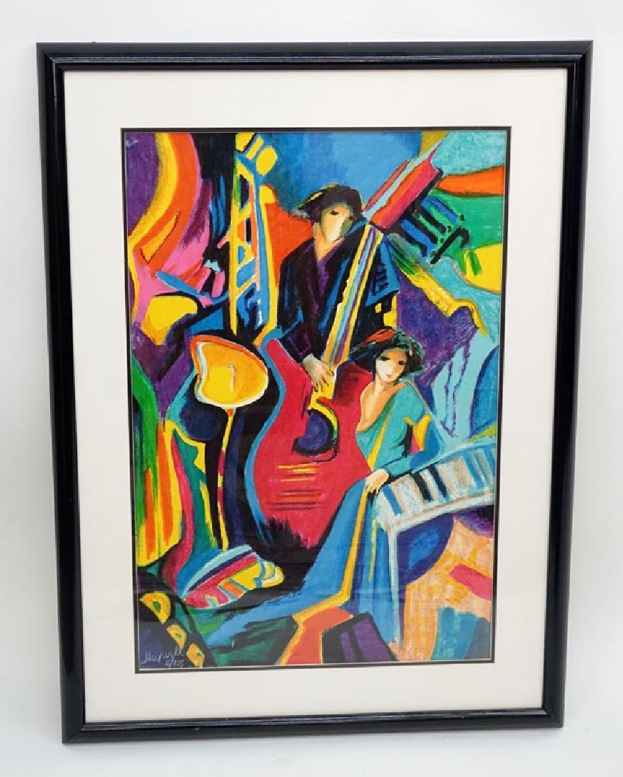 Philip Maxwell, Parisian (b. 1964) Serigraph on Canvas - 2