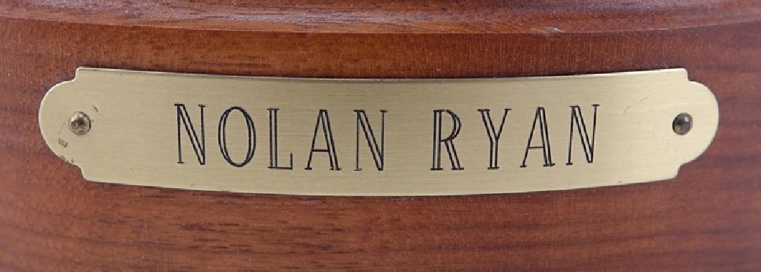 A Bronze Sculpture of Nolan Ryan Mounted on Wooden Base - 5