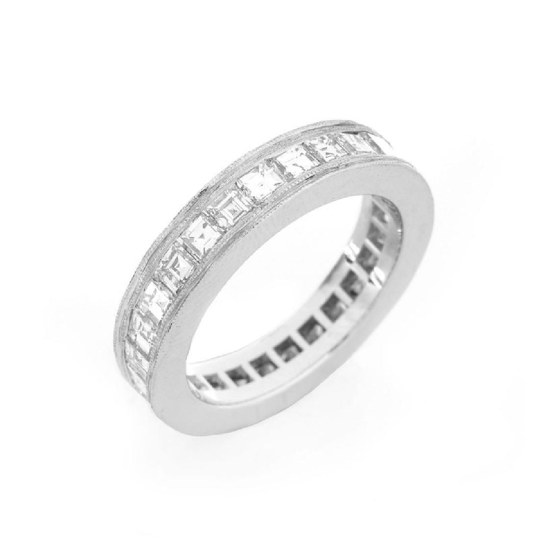 Approx. 4.0 Carat Square Cut Diamond and Platinum