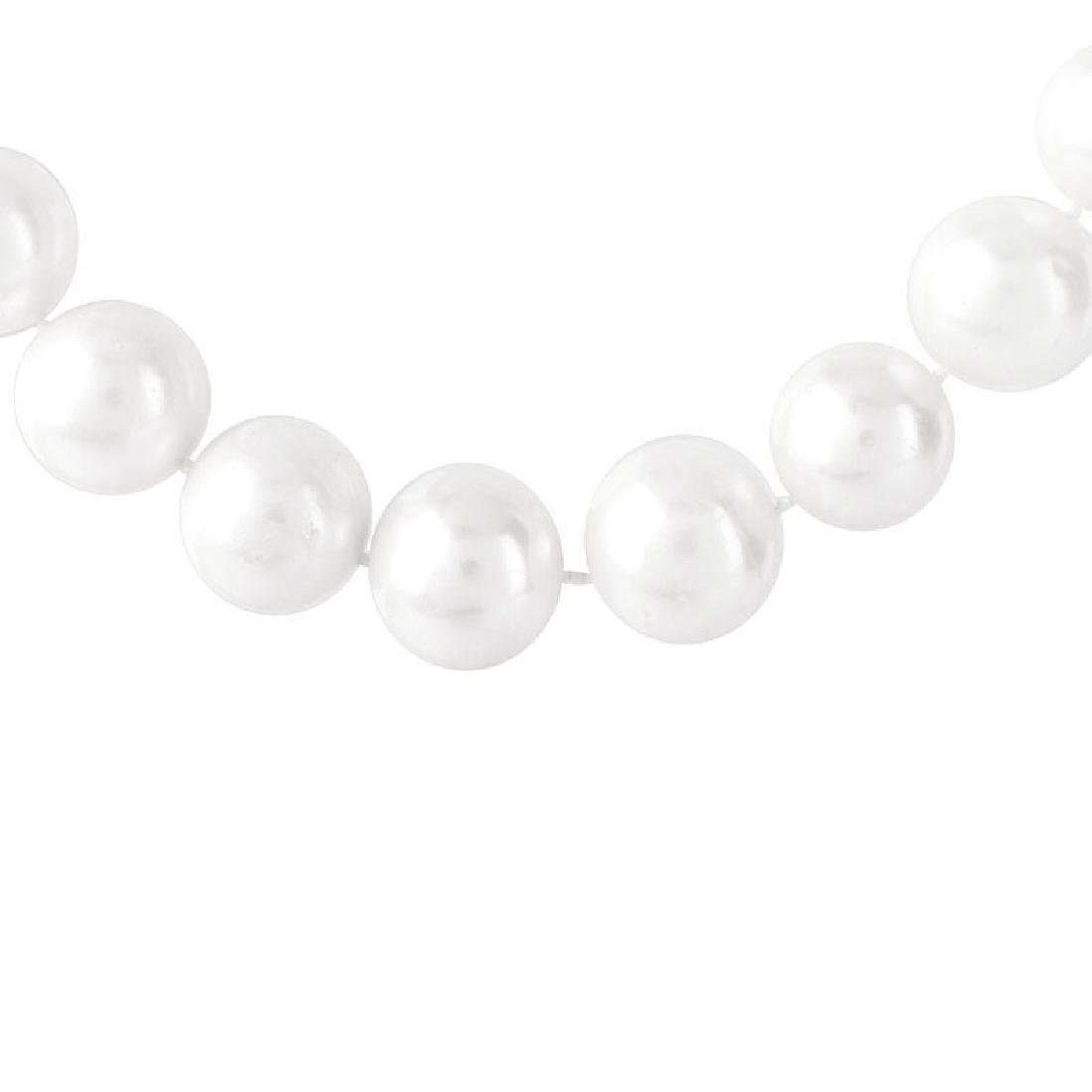Single Strand Graduated South Sea Pearl and 14 Karat - 2