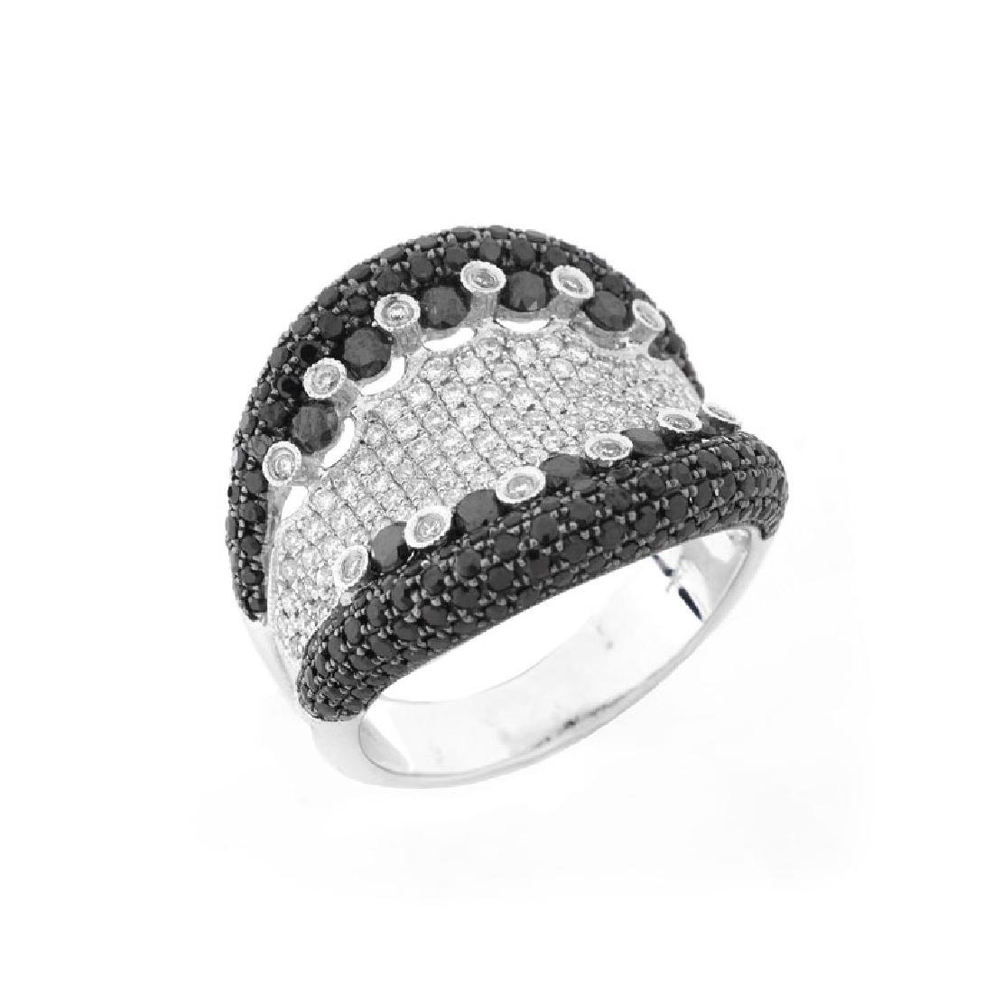 Contemporary Approx. 3.15 Carat Pave Set Black Diamond,