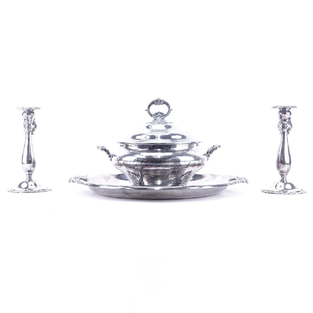 Collection of Three (3) Wallace Baroque Silver Plate