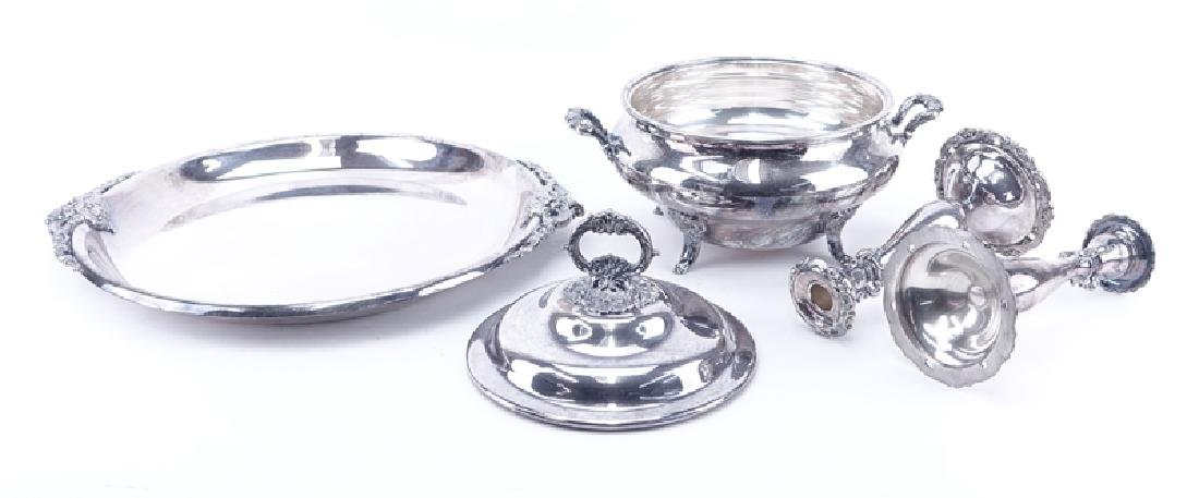 Collection of Three (3) Wallace Baroque Silver Plate - 2