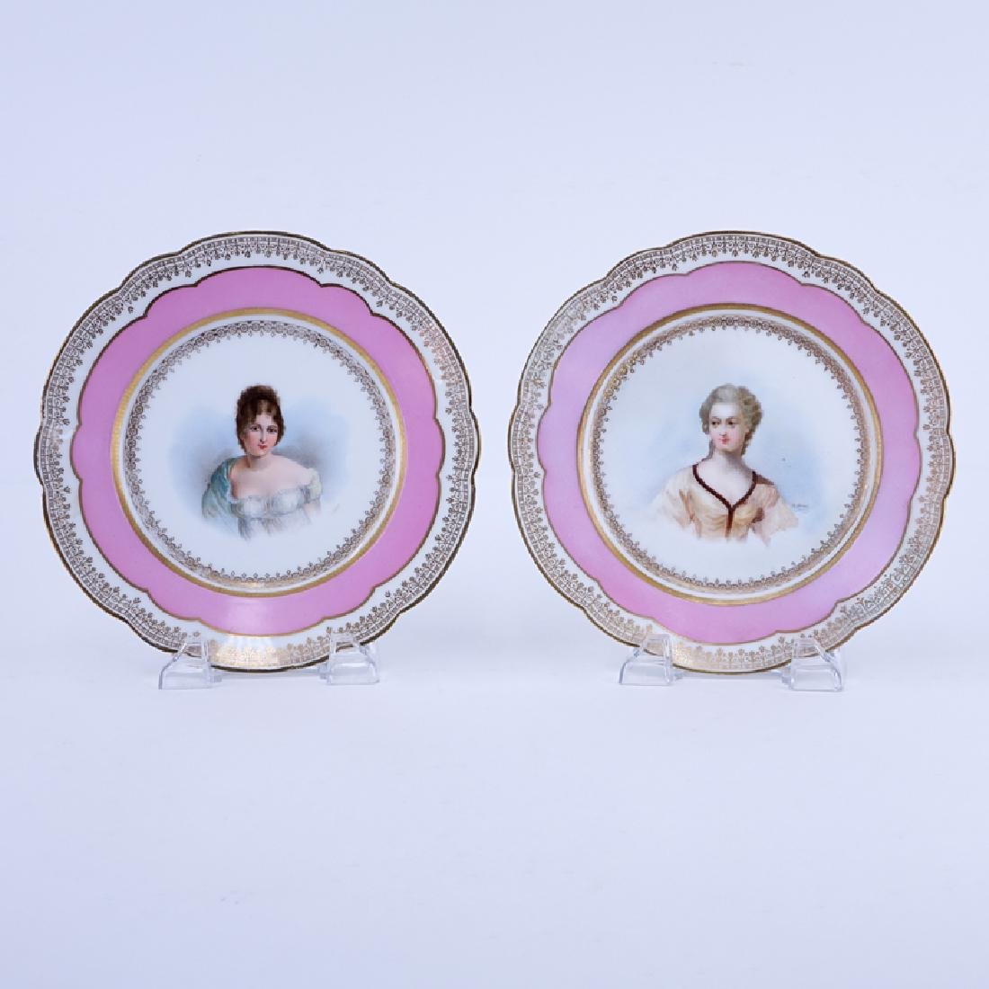 Pair of 19/20th Century Sevres Porcelain Chateau de
