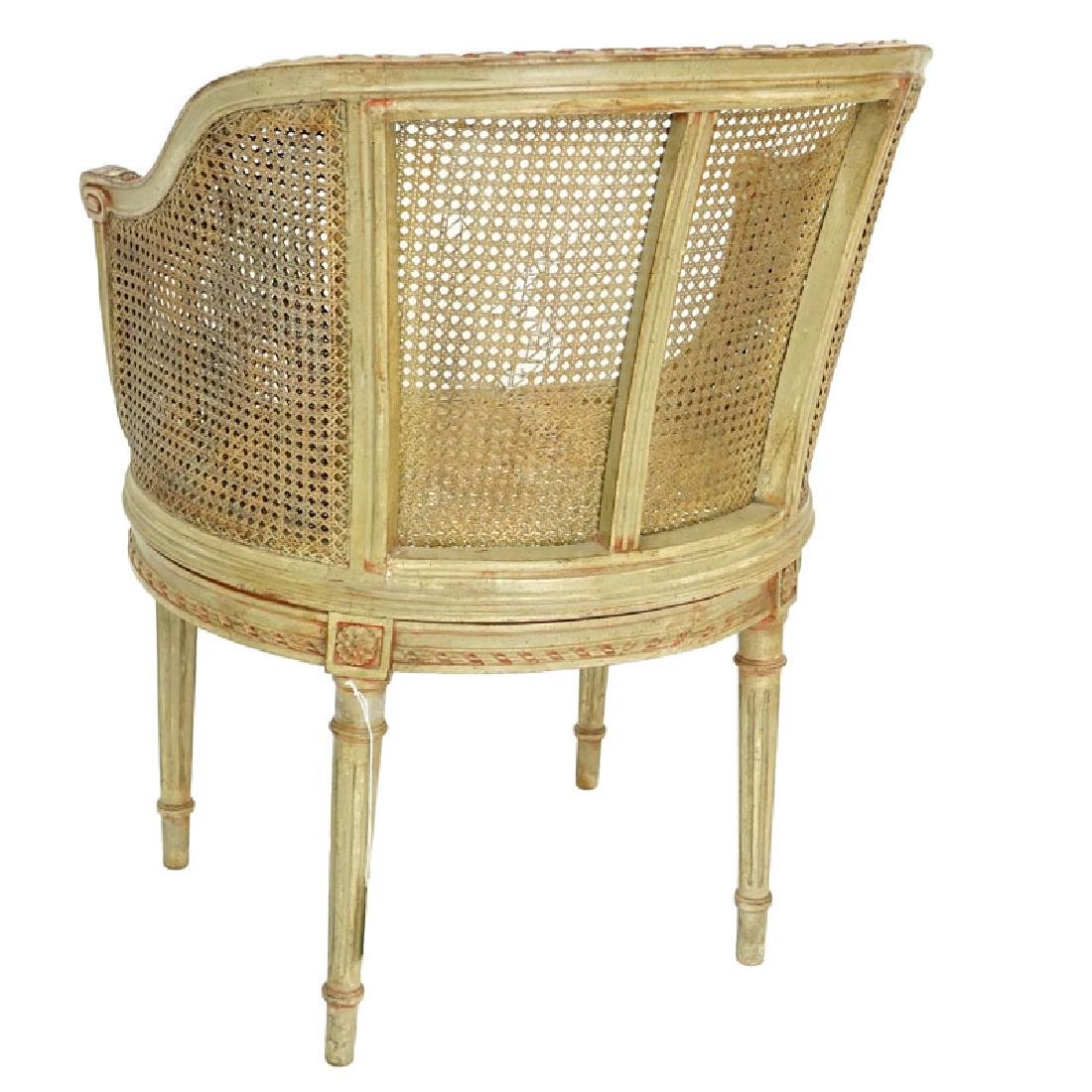 Early 20th Century Louis VXI Style Caned Vanity Chair - 4