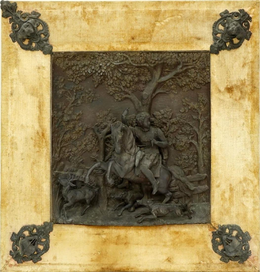 19/20th Century Bronze High Relief Plaque of a Figural - 2