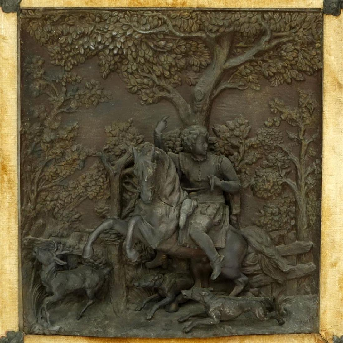 19/20th Century Bronze High Relief Plaque of a Figural - 3