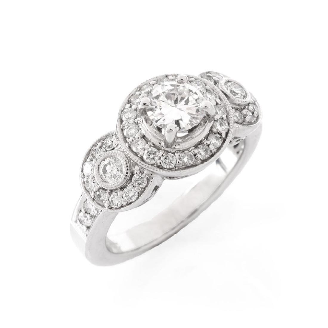 Approx. 1.40 Carat Diamond and 18 Karat White Gold