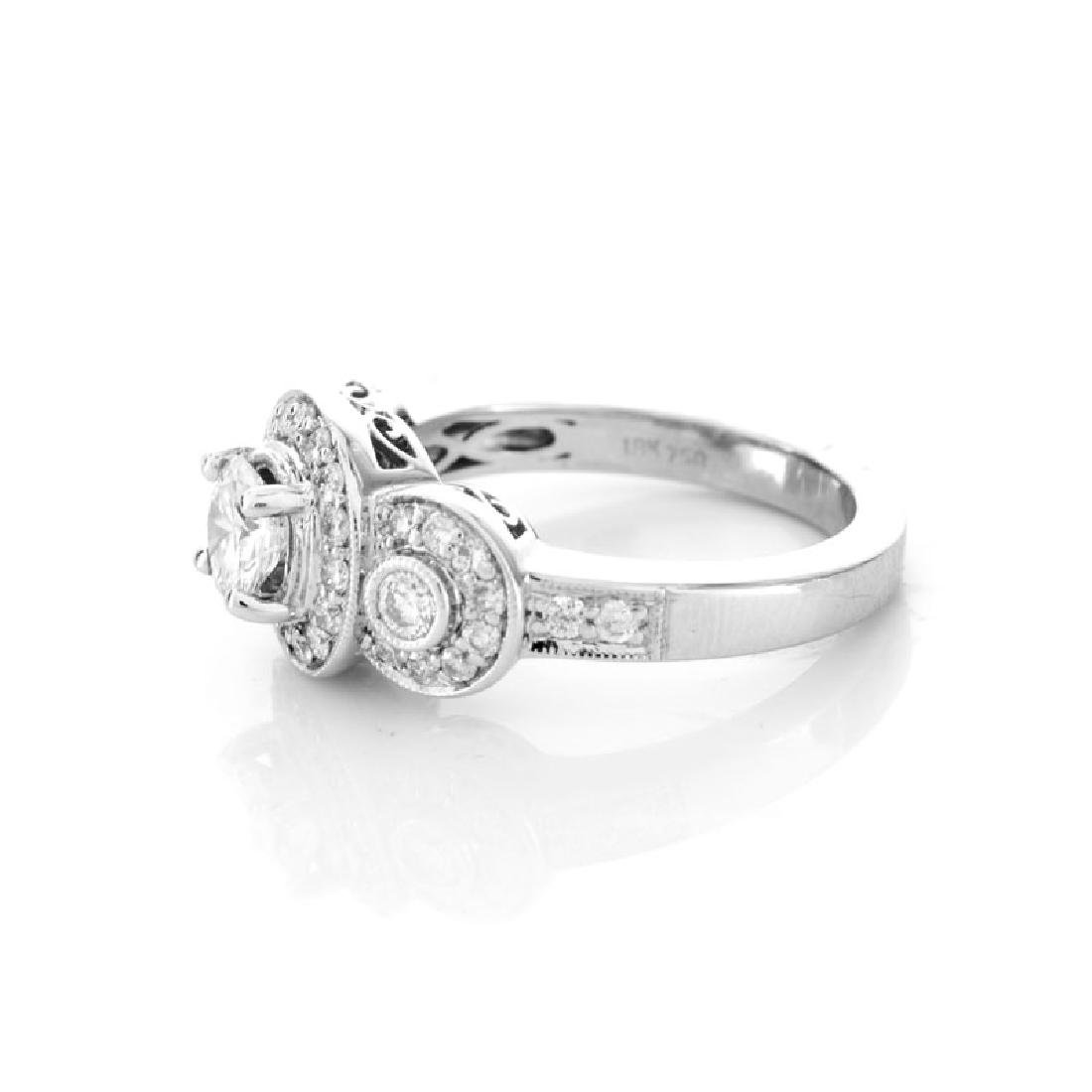 Approx. 1.40 Carat Diamond and 18 Karat White Gold - 3