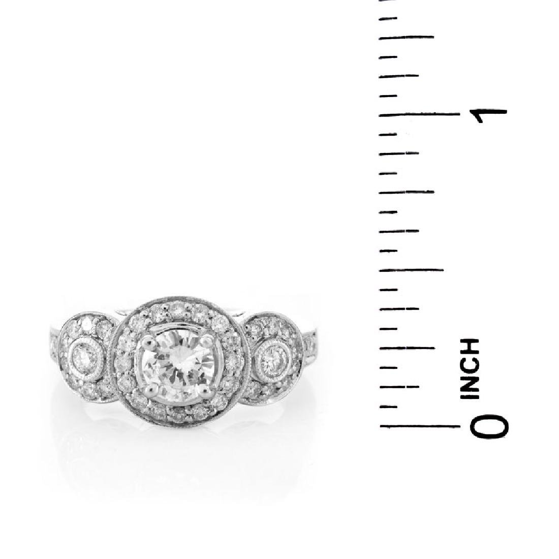 Approx. 1.40 Carat Diamond and 18 Karat White Gold - 6