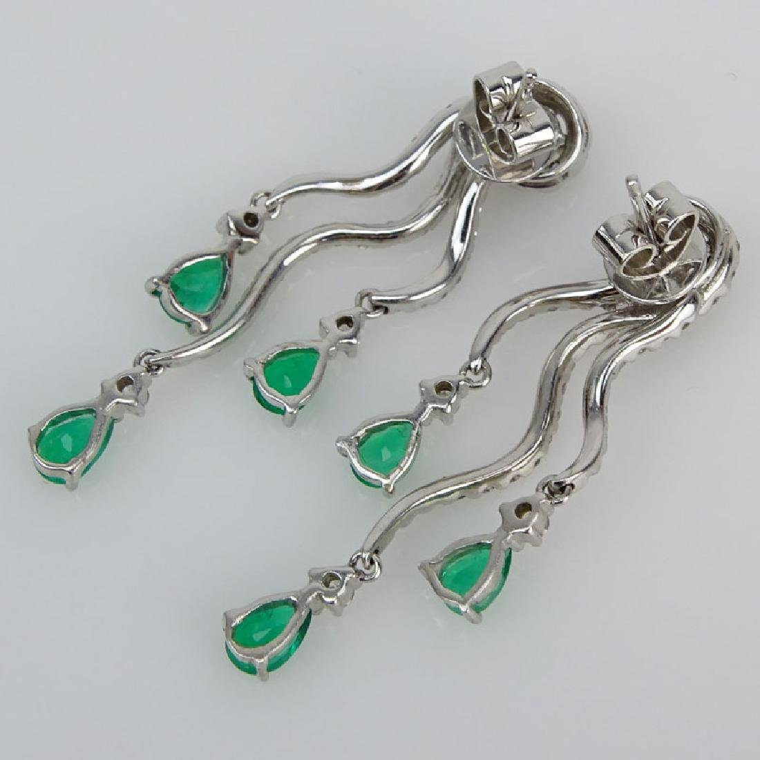 Approx. 1.80 Carat Pear Shape Emerald, 1.60 Carat Round - 2