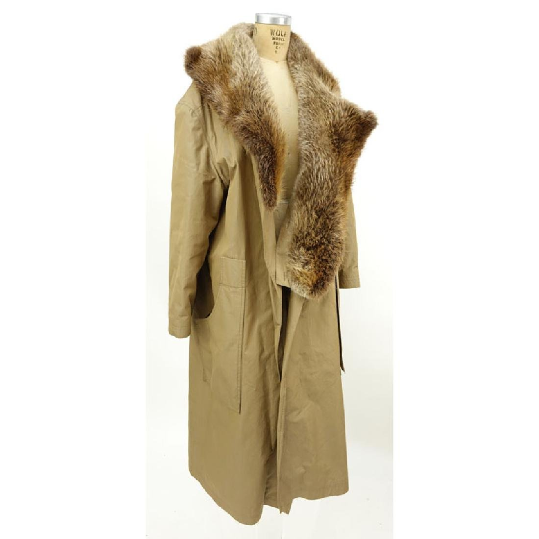 Men's Birger Christensen Hermes Fur Lined Poplin Trench