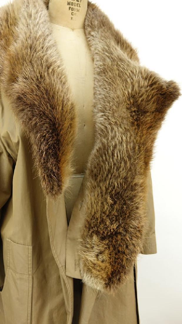 Men's Birger Christensen Hermes Fur Lined Poplin Trench - 2