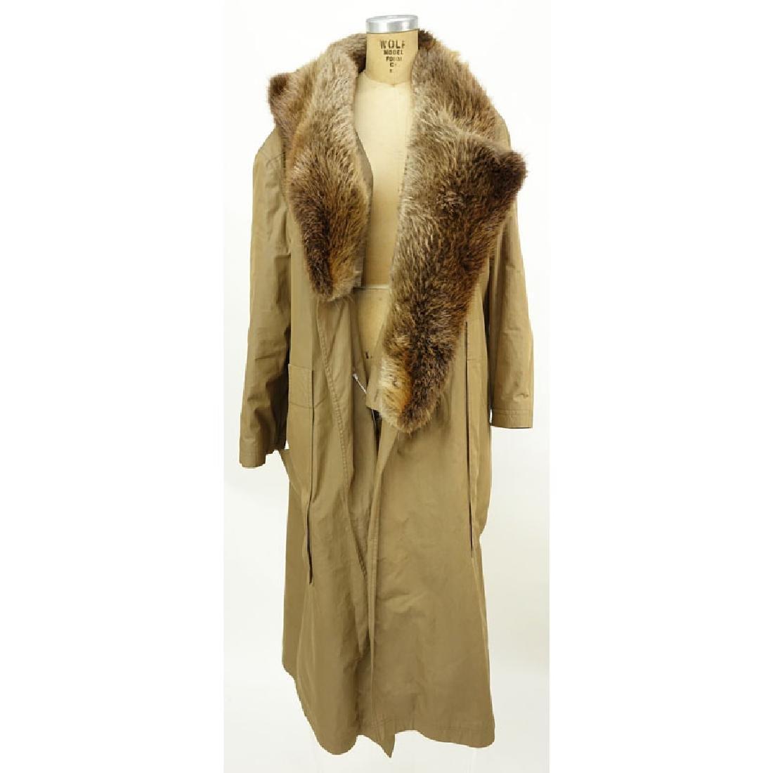 Men's Birger Christensen Hermes Fur Lined Poplin Trench - 3