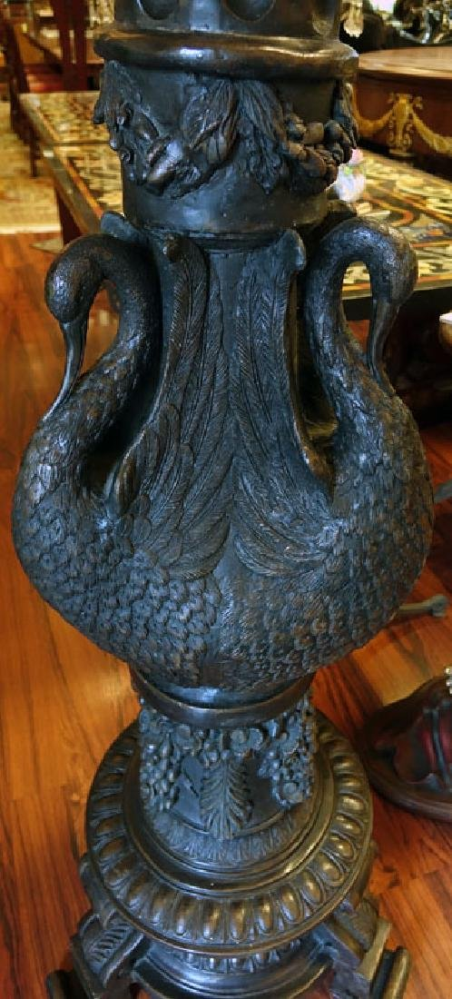 20th Century Empire Style Bronze Three Arm Figural - 6