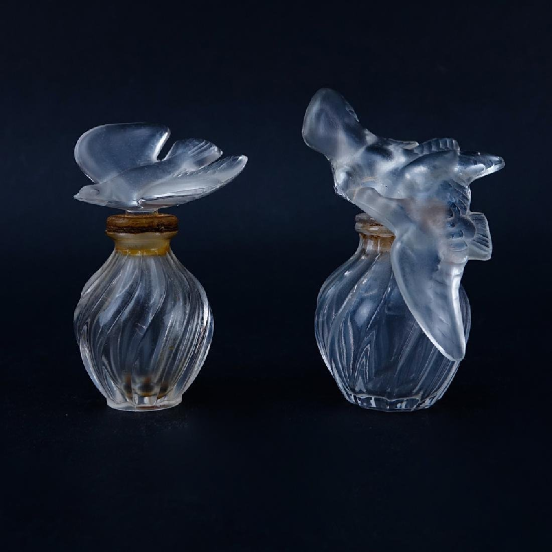 Two (2) Lalique for Nina Ricci L'air du Temps Perfume