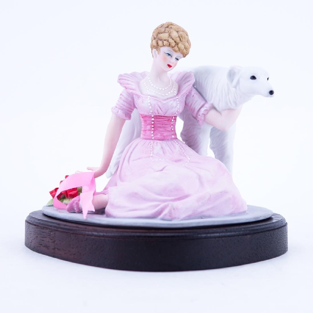 """Louis Icart """"1914 Coursing"""" Bisque Porcelain Figurine"""
