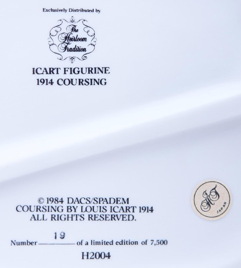 """Louis Icart """"1914 Coursing"""" Bisque Porcelain Figurine - 4"""