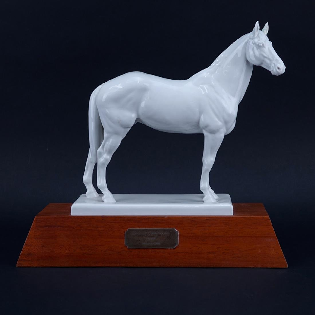 Meissen Blanc de Chine Model of a Horse Mounted on