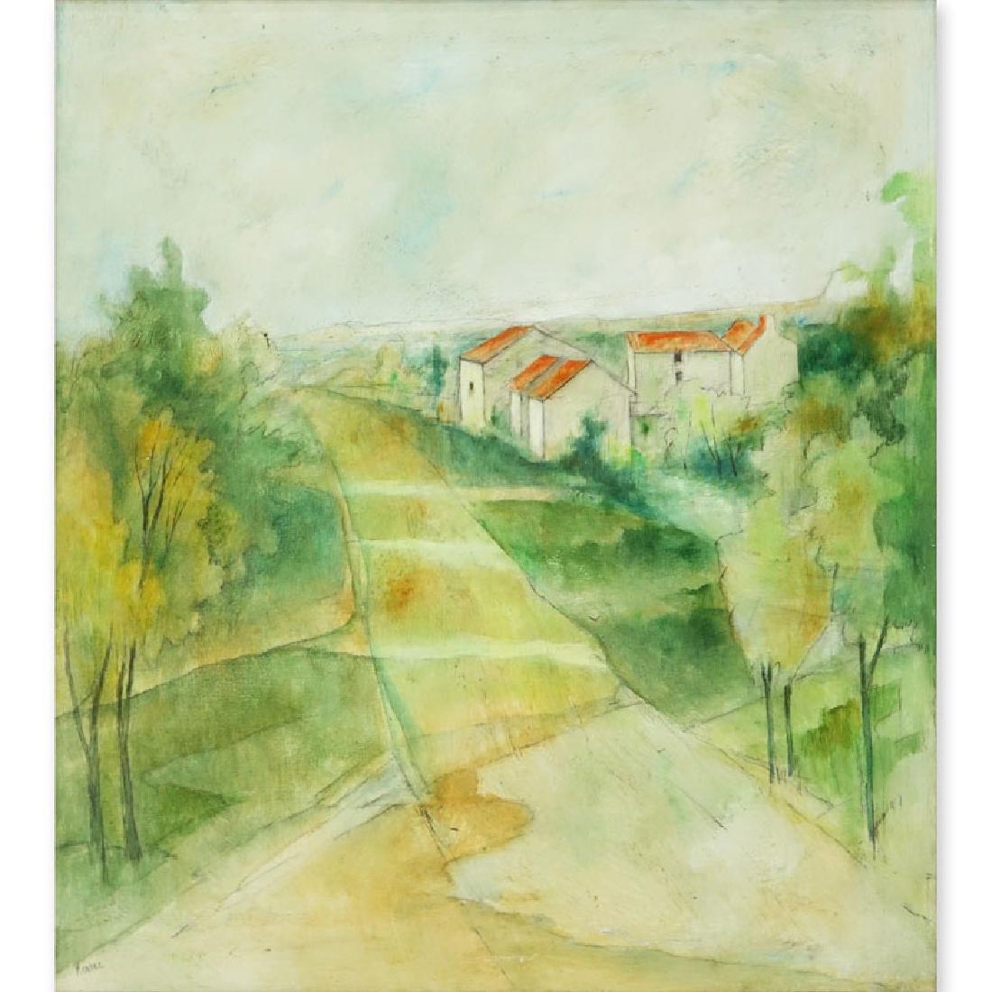 "20th Century Oil on Canvas ""Landscape Scene"" Signed"