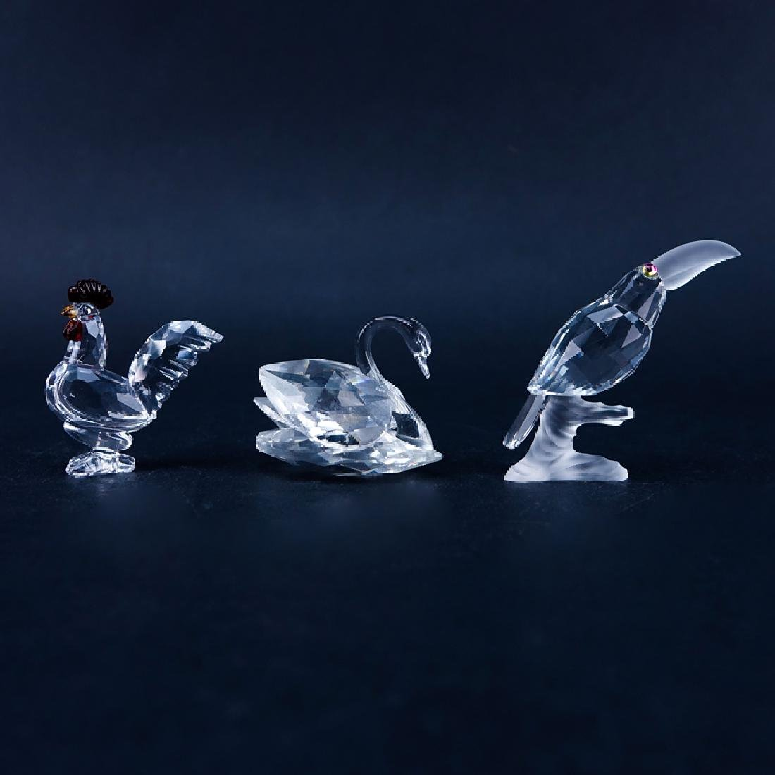 Three (3) Swarovski Crystal Bird Figurines in Original