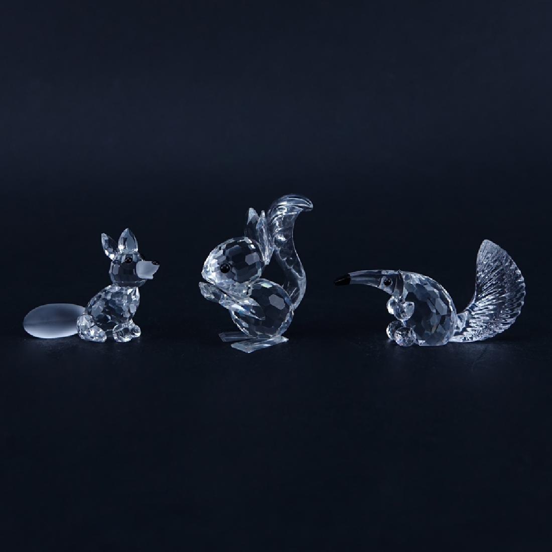 Three (3) Swarovski Crystal Animal Figurines in