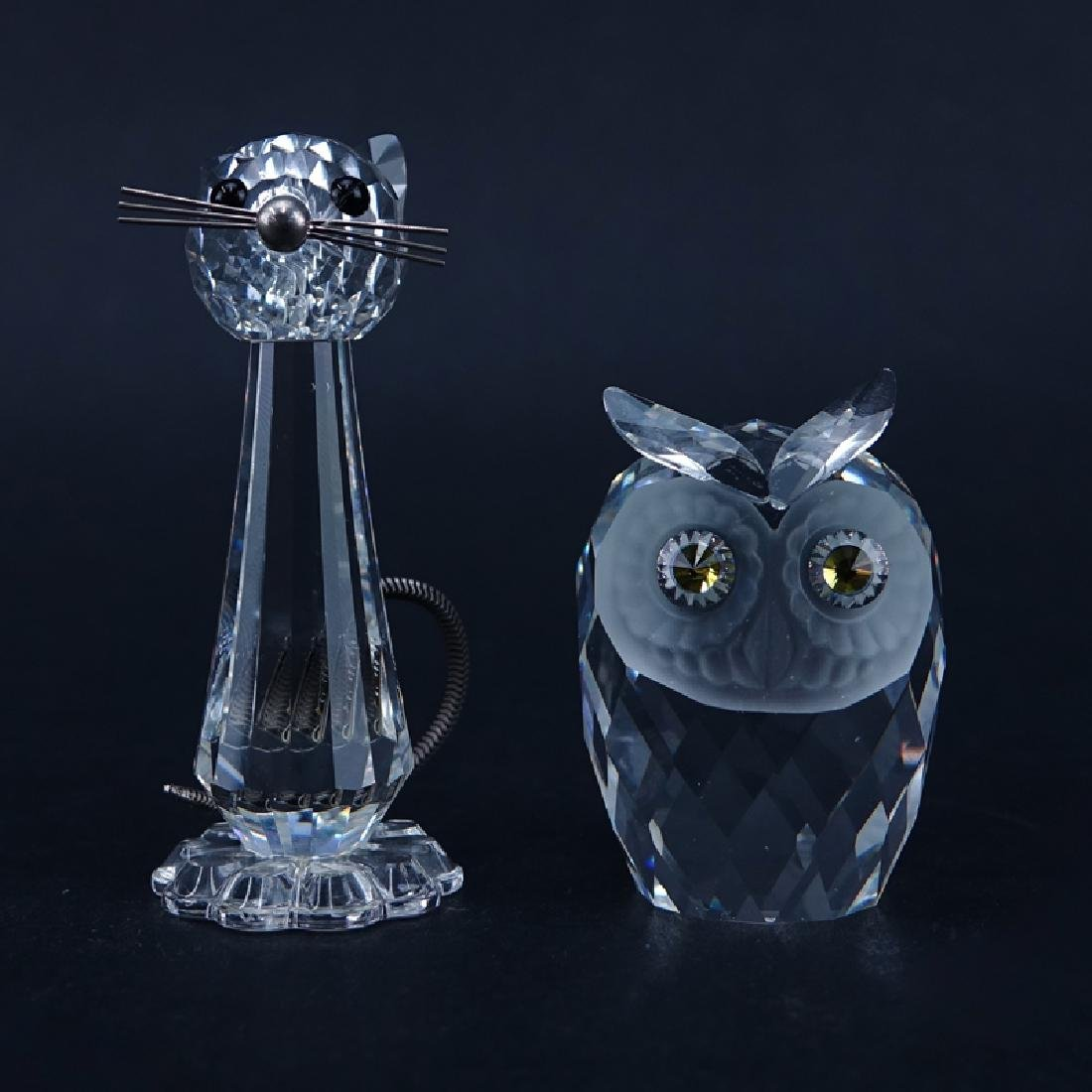 Two (2) Swarovski Crystal Animal Figurines in Original