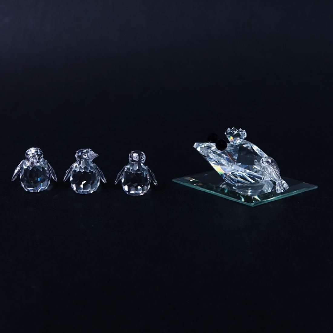 Four (4) Swarovski Crystal Animal Figurine in Original