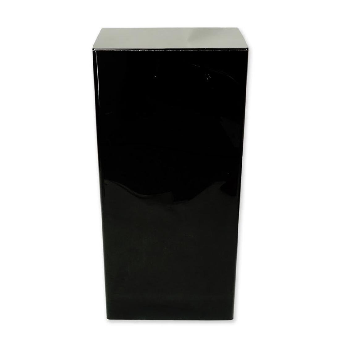 Modern Black Acrylic Pedestal Stand. Typical scuffs to - 2