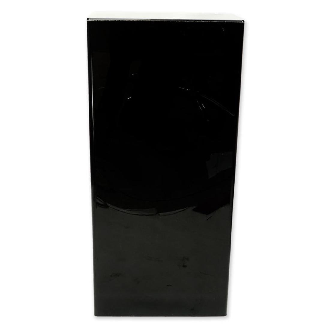 Modern Black Acrylic Pedestal Stand. Typical scuffs to - 3