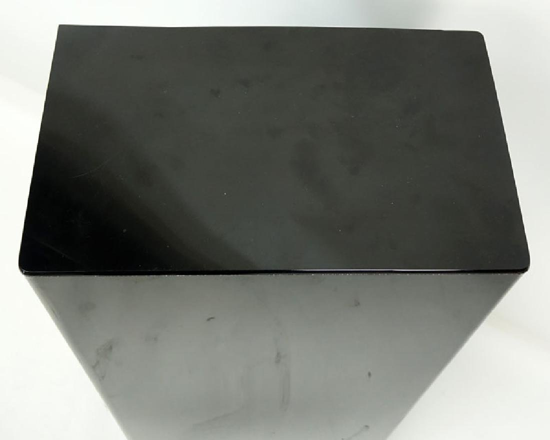 Modern Black Acrylic Pedestal Stand. Typical scuffs to - 4