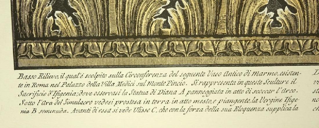 Two (2) Ornamental Frieze Engravings After Francesco - 4