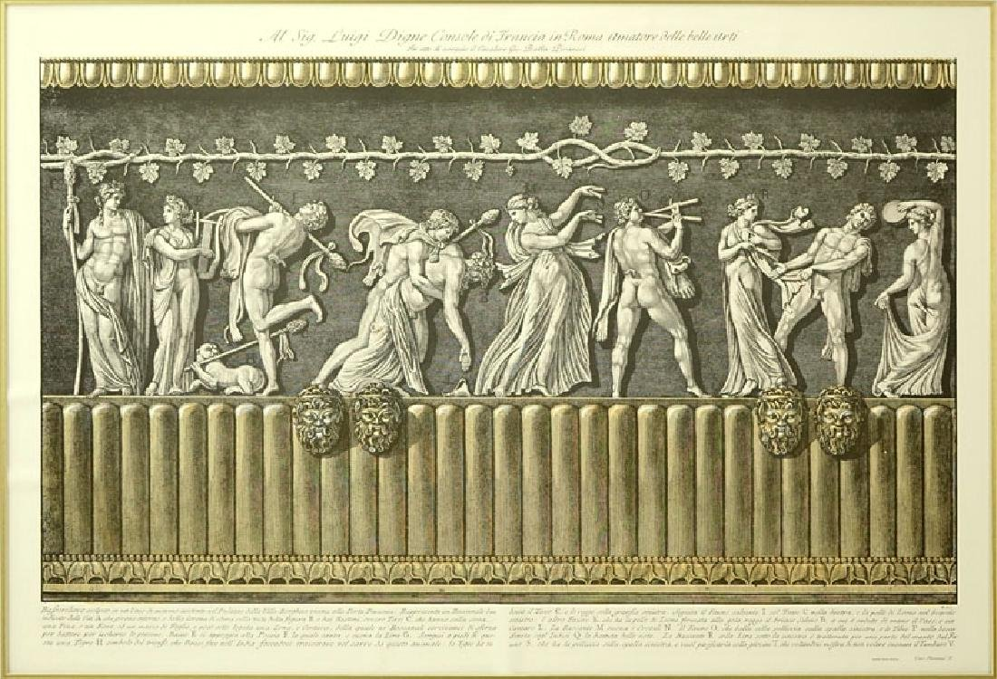 Two (2) Ornamental Frieze Engravings After Francesco - 7