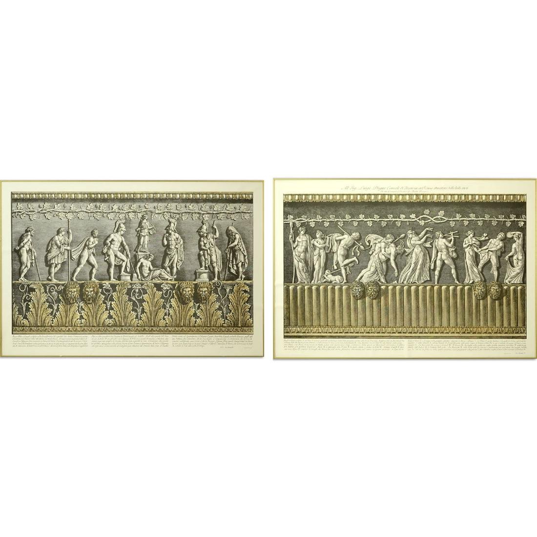 Two (2) Ornamental Frieze Engravings After Francesco