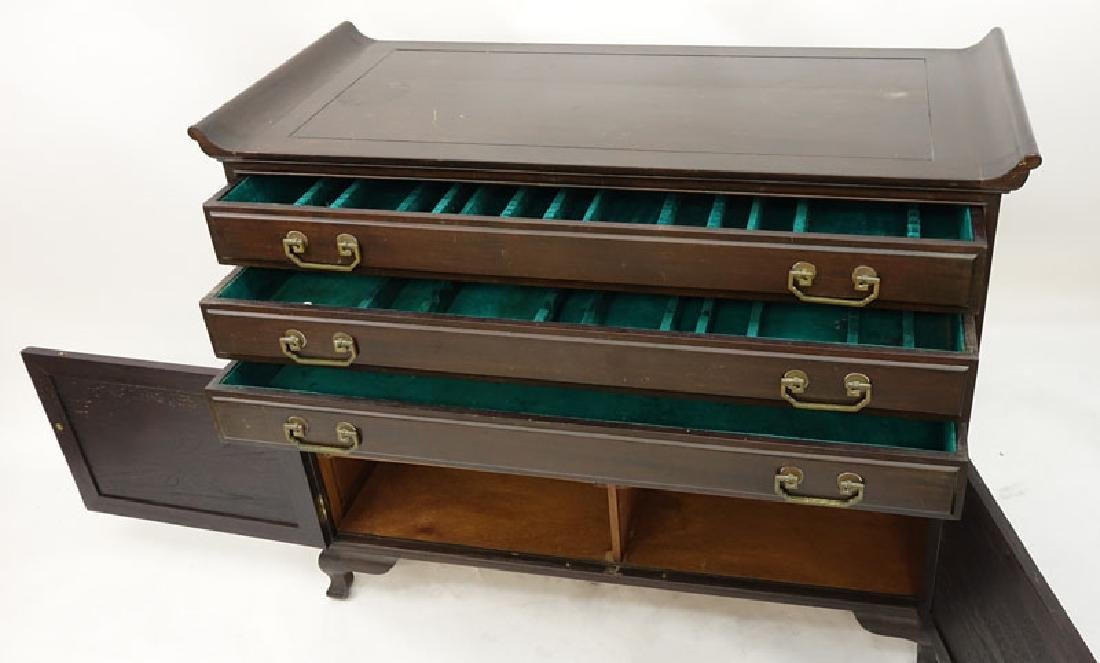 Mid Century Chinese Silverware Chest of Drawers with - 5
