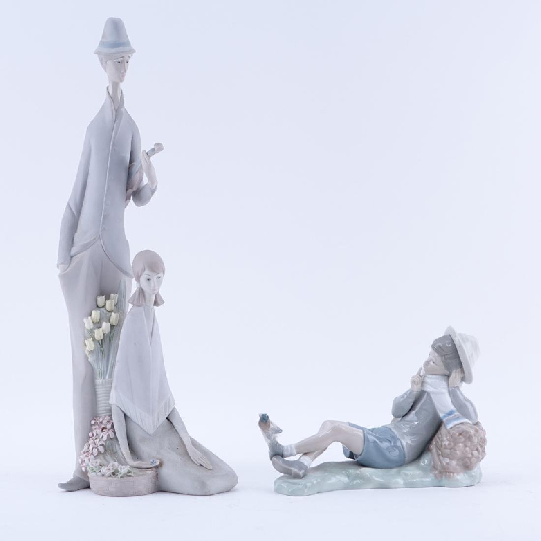 Two (2) Lladro Porcelain Figures
