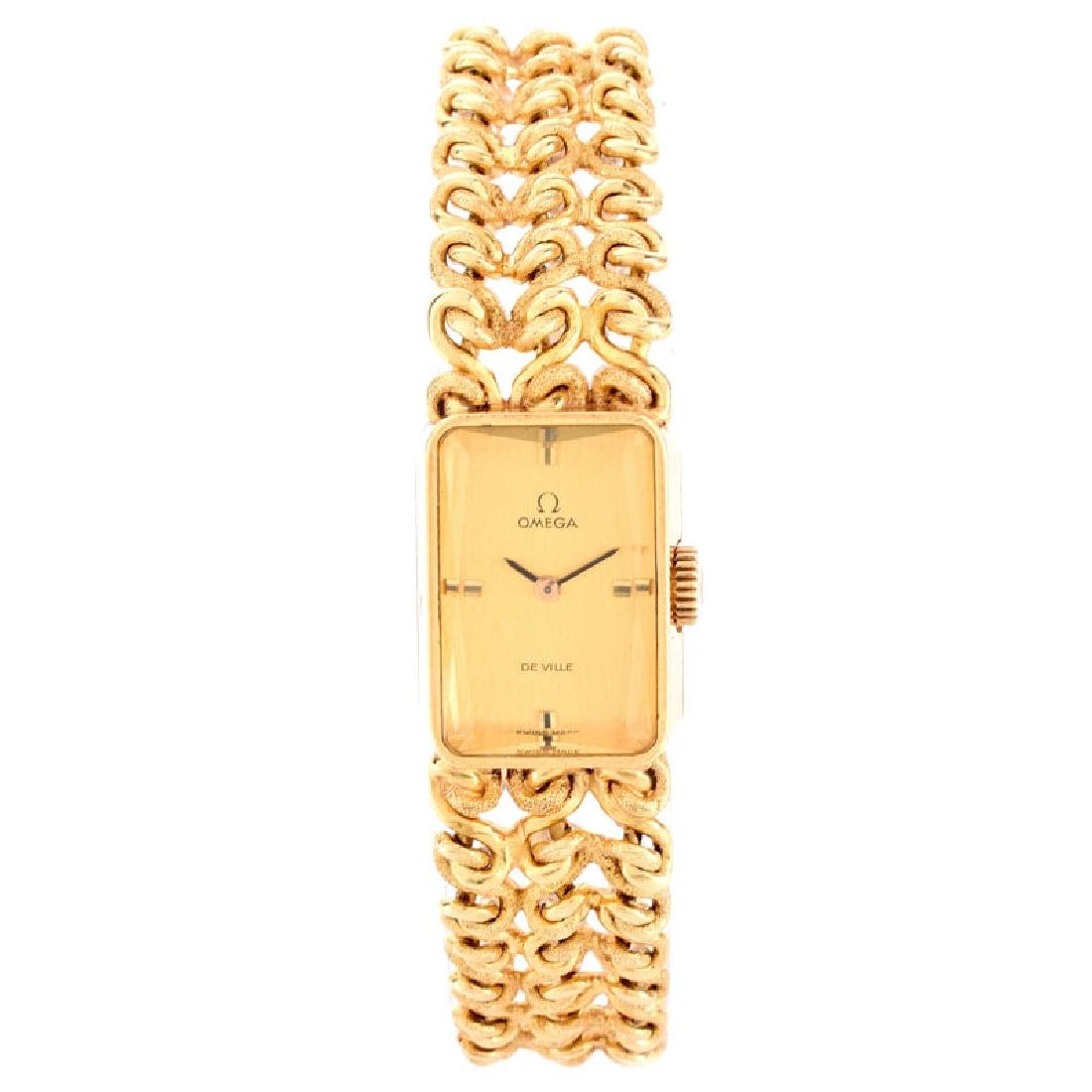 Lady's Vintage Omega De Ville 18 Karat Yellow Gold
