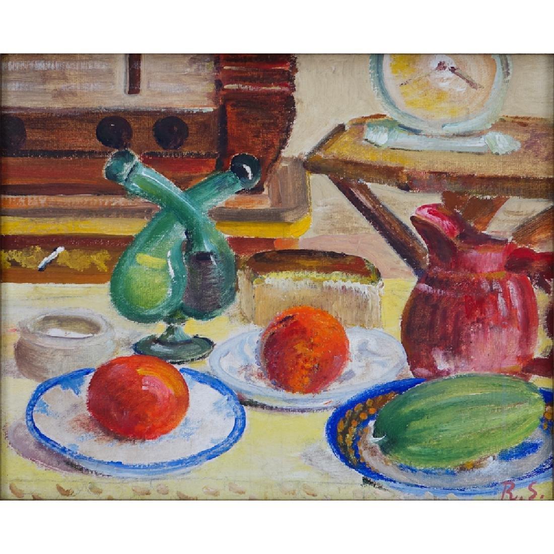 Ragnar Sandberg, Swedish 1902-1972) Oil on Artist