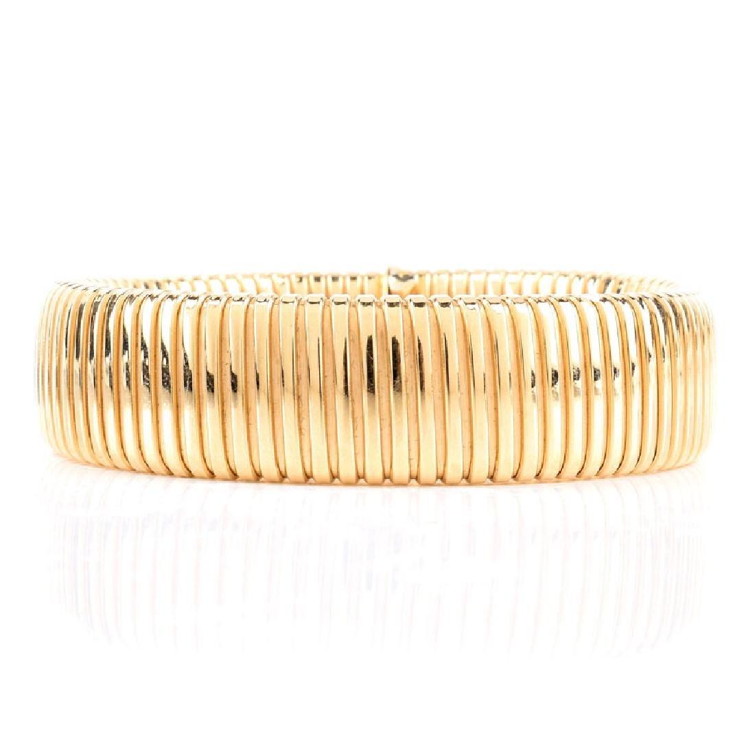 Italian 18 Karat Yellow Gold Expanding Flex Link