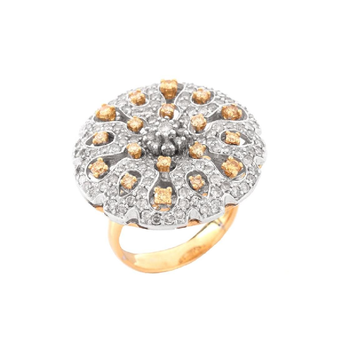 Approx. 1.40 Carat Pave Set Round Brilliant Cut White