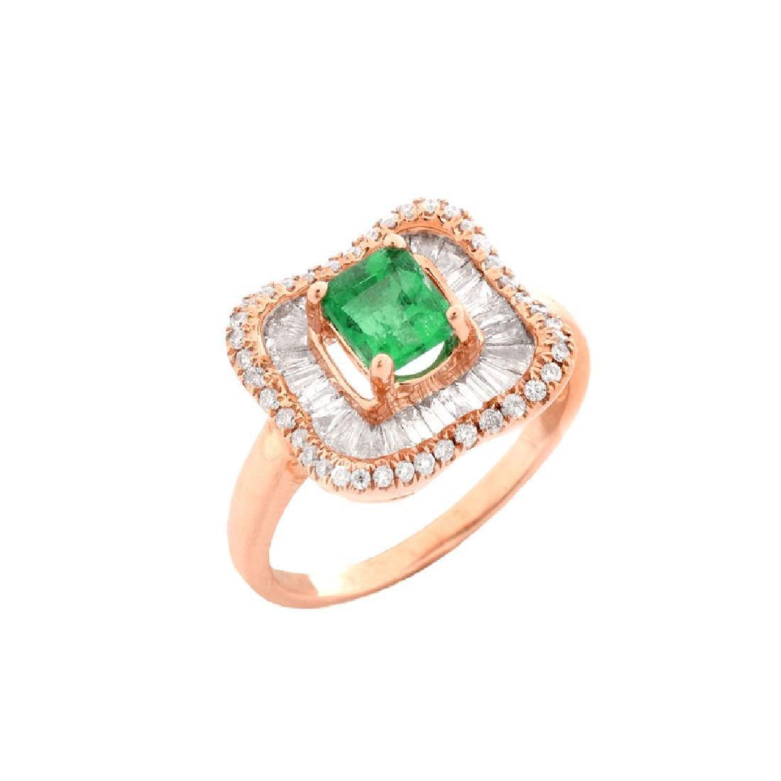 Approx. .75 Carat Colombian Emerald, 1.0 Carat Baguette