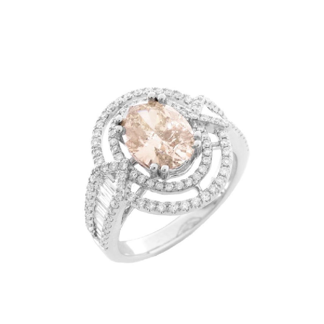 Approx. 1.71 Carat Oval Cut Diamond and 14 Karat White