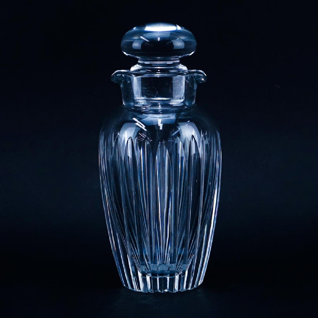 Baccarat Crystal Martini Shaker. Signed. Typical scuffs